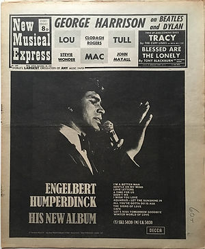 jimi hendrix newspaper 1969/new musical express november 22,  1969