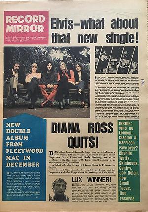 jimi hendrix newpapers 1969/recrd mirror october 25  1969
