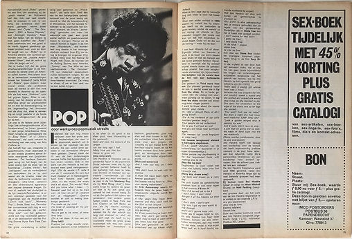 jimi hendrix magazines 1970 / sextant  march 1970