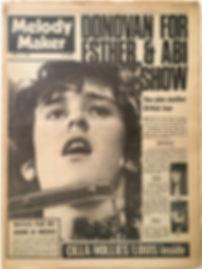 jimi hendrx newspaper/melody maker april 13 1968