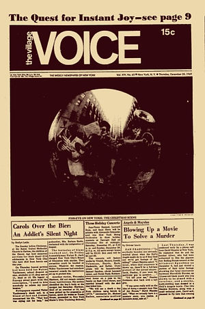 jimi hendrix newspapers 1969/village voice dec.25, 1969