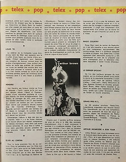 jimi hendrix magazines 1970 / juke box  august  1970 /  review : band of gypsys