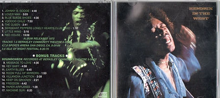 jimi hendrix bootlegs cds 1970 / the black elvis plays america / hendrix in the west  classic remasters records