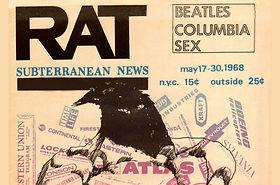 jimi hendrix newspaper/rat   may 17, 1968