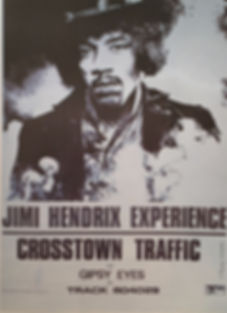 jimi hendrix collector poster /crosstown traffic/gipsy eyes 1969