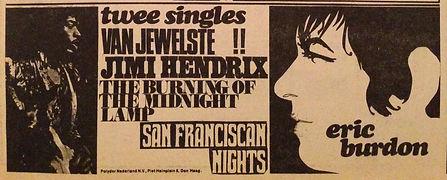 jimi hendrix rotily memorabilia/burning of the midnight lamp