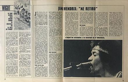 jimi hendrix magazines 1970 / mundo joven september 26,1970