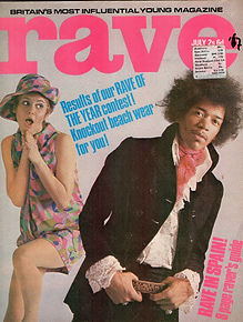 jimi hendrix magazine /rave july 1967
