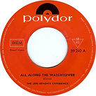 all along the watchtower /side A  singles 45t vinyls austria 1969