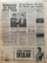 jimi hendrix newspaper/go 29/3/68 gold album for jimi