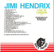 jimi hendix collector bootlegs cds/ live in london 1967 black panther 1989