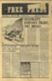 jimi hendrix newspapers1969/ free press oct:1- 8, 1969