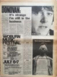 jimi hendrix newspaper/june 22 1968/ AD:woburn music festival