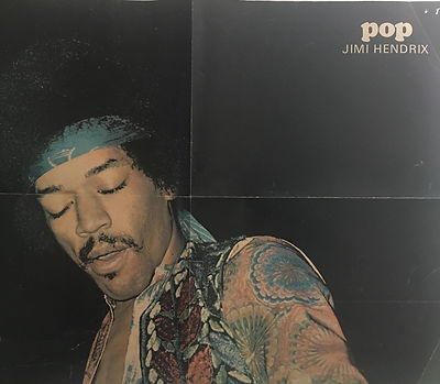 jimi hendrix collector magazines 1970/ pop november 1970 /  poster