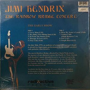jimi hendrix bootlegs vinyls 1970 / the rainbow bridge concert / the early show