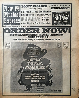jimi hendrix newspapers/new musical express 16/12/16/1967