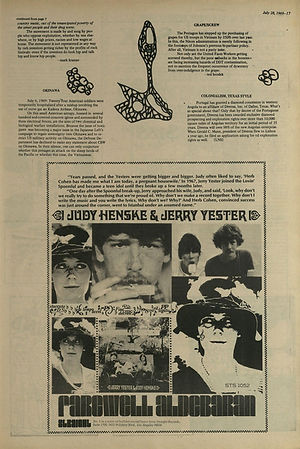 jimi hendrix newspaper 1969/the great speckled bird july 28 1969