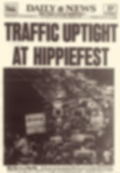 jimi hendrix newspaper woodstock festival august  1969/