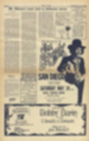 jimi hendrix newpape 1969/los angeles free press may 16 1969 / ad concert san diego may 24 1969