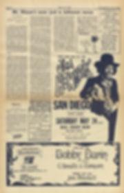 jimi hendrix newpape 1969/los angeles free press may 16 1969 / ad concert san diego may 24 1969