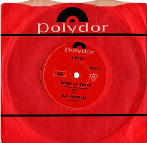 jimi hendrix collector rotily singles 45t vinyls/ all along the watchtower ( desde la torra ) argentina 1969
