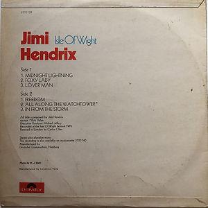 jimi hendrix album vinyl/isle of wight  israel 1972