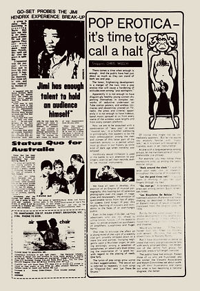 jimi hendrix newspper 1968/go set november 27, 1968 australia