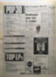 jimi hendrix newspaper 1968/ top 30 /topLPs