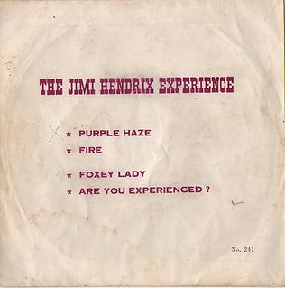 jimi hendrix vinyls singles ep / thailand / purple haze