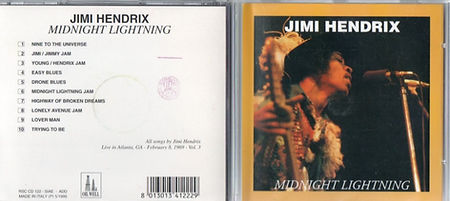 jimi hendrix bootlegs cds 1969/ midnight lightning
