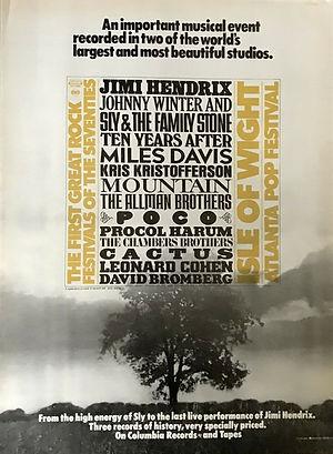 jimi hendrix memorabilia /the first great rock festival of the seventies