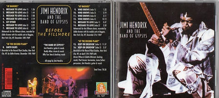 jimi hendrix bootlegs cds 1969/ jimi hendrix and the band of gypsys
