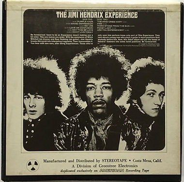 jimi hendrix reel to reel collector/are you experienced reel to reel reprise 1968 bell & howell company