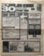 jimi hendrix newspaper 1968/ disc music echo november 9 1968 top 30: all along the watchtower N°9
