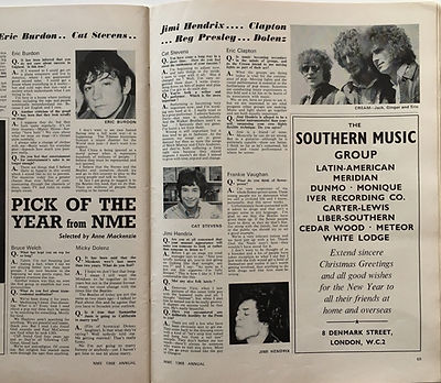 jimi hendrix magazine/1968 annual new musical express