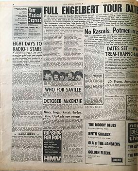 jimi hendrix collector/newspapers/jimi US return/23/9/67 new musical express