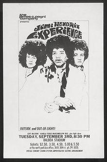 jimi hendrix memorabilia 1968/ flyers 1968