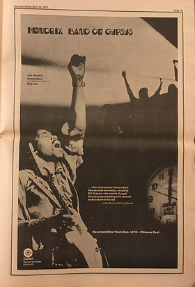 jimi hendrix newspapers collector 1970/rolling stone may 14, 1970