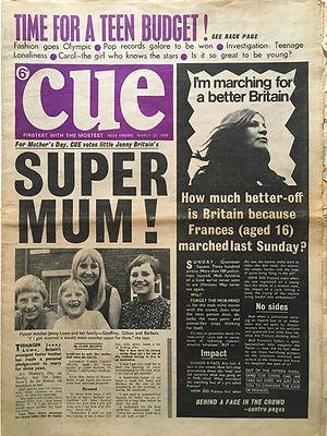 jimi hendrix newspaper/cue 23/3/68