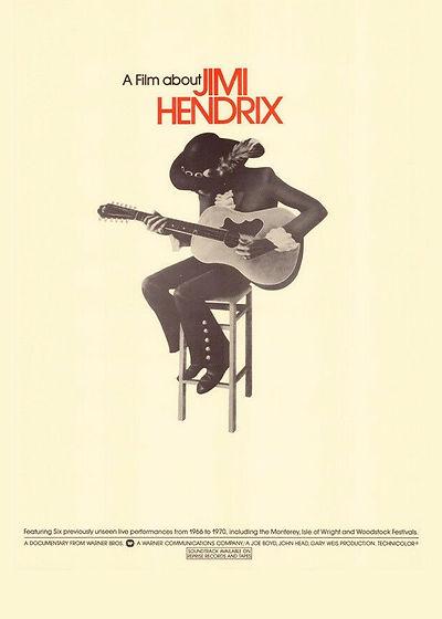 jimi hendrix memorabilia / poster a film about jimi hendrix