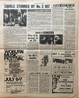jimi hendrix newspaper/new musical express 29/6/68