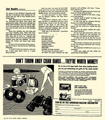 jimi hendrix newspaper / the plain dealer sunday april 28,1968