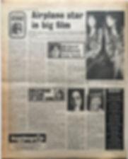 jimi hendrix newspaper 1968/disc music echo november 23 1968