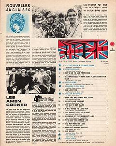 jimi hendrix collector magazines/Les rockers N°4 top20/ 26 september 1967