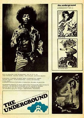 jimi hendrix newspaper 1968/  nyt superlove february 1968