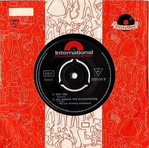 jim hendrix collector singles vinyls EP maxi single/side B/ hey joe/all along the watchtower 1970 greece