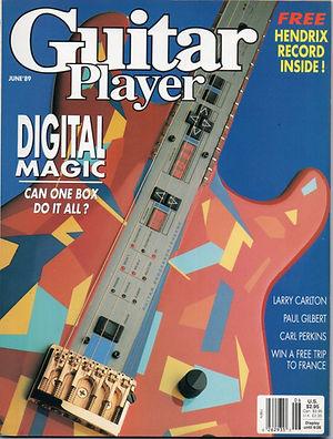 jimi hendrix magazine collector / guitar player  june 1989
