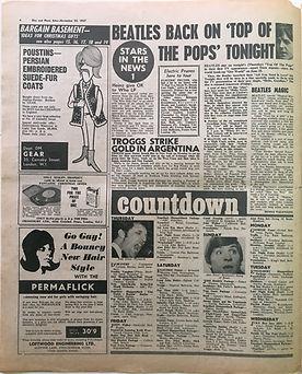 countdown/25/11/1967 jimi hendrix collector newspaper/disc music echo
