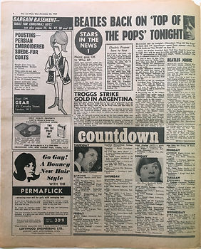 countdown/25/11/1967 jimi hendrix collector newspaper/disc music echo