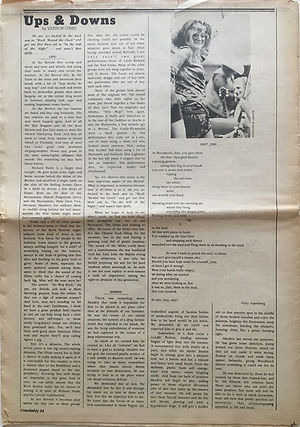jimi hendrix newspaper 1970 / crawdaddy november 1970